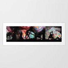 silhouette's #02 Art Print