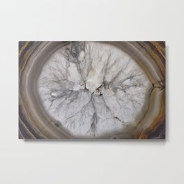 Crystal geode Metal Print