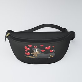 Entlebucher Mountain Dog With Plush Toy Fanny Pack