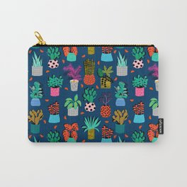 Check It - house plants indoor monstera neon bright modern pattern retro throwback memphis style Carry-All Pouch