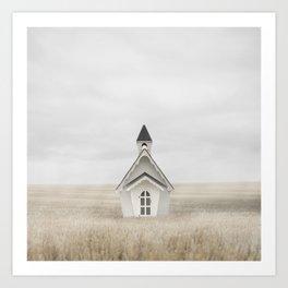 Field Church Art Print