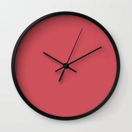 Pratt and Lambert 2019 Deep Cerise Red 2-11 Solid Color Wall Clock
