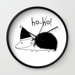 Fun Scandinavian Christmas art for techies Wall Clock