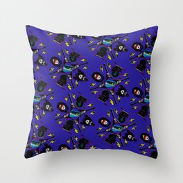 pop pattern_heavy metal Throw Pillow