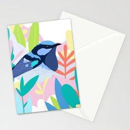 Superb Fairy-Wren Bird in the Garden Stationery Cards