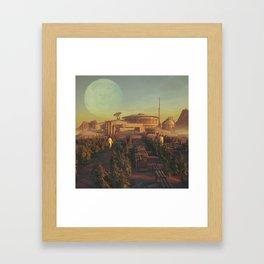 TATOOINE HYDROPONICS (everyday 04.20.18) Framed Art Print