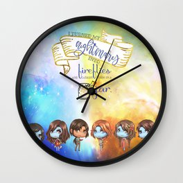 Sarai's Fireflies Wall Clock