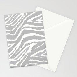 ZEBRA 2 GRAY AND WHITE ANIMAL PRINT Stationery Cards