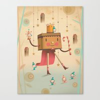 king Canvas Prints featuring KIng by Cristian Turdera