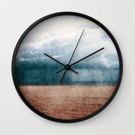 Rain Storm On Algarve Beach Wall Clock