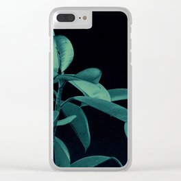 Rubber plant Clear iPhone Case
