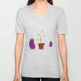 Egg Plant Unisex V-Neck