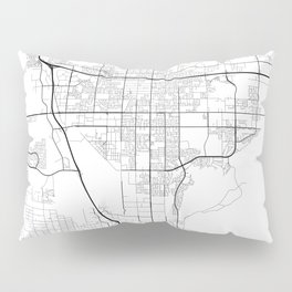 Minimal City Maps - Map Of Moreno Valley, California, United States Pillow Sham