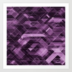 Abstract violet pattern Art Print