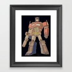 Optimus Black Framed Art Print