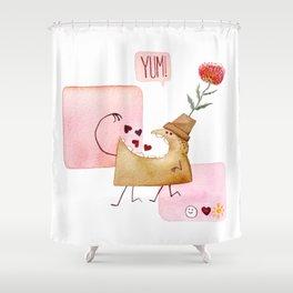 Underbite Valentine Shower Curtain