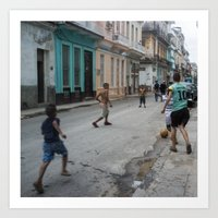 Pickup Game, Havana Art Print