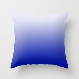 Ombre Zaffre Blue Throw Pillow