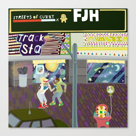 FJH ✮ Streets of Cuzzy EP Canvas Print