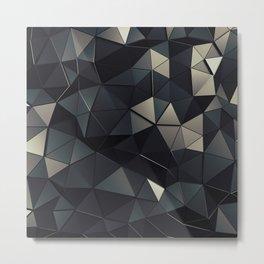 Polygon Noir Metal Print