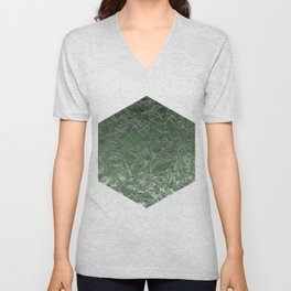 Grunge Relief Floral Abstract G167 Unisex V-Neck