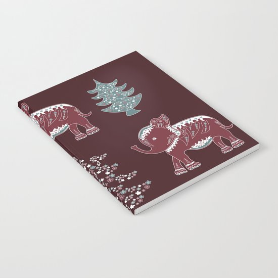 Elephants, trees and flowers Notebook