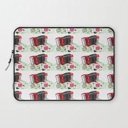 Retro red accordion Laptop Sleeve