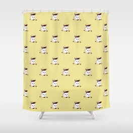 Coffee Mug Addicted To Coffee pattern Shower Curtain