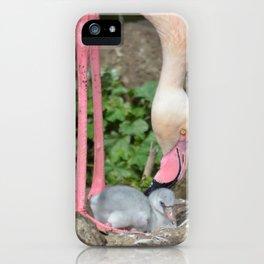baby flamingo iPhone Case