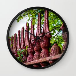 St. Mary's Red Iron Wall Clock