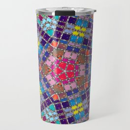 Gemstones and Metal Pentagon Pattern Travel Mug