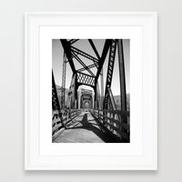 bridge Framed Art Prints featuring Bridge by Danielle Podeszek