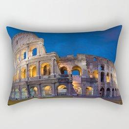 Colosseum At Night Rectangular Pillow