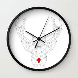Red Nosed Reindeer Wall Clock