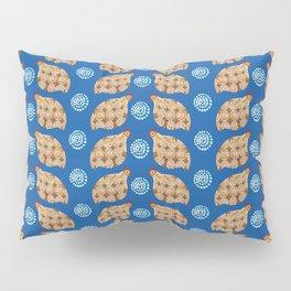 Gold guinea fowl pattern on blue Pillow Sham