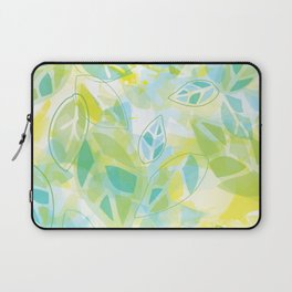 watercolor inspired leaves, spring palette Laptop Sleeve