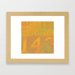 1 Dot 4 Dot 3 Framed Art Print