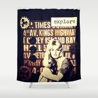 explore Shower Curtains featuring Explore by LadyJennD