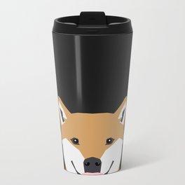 Indiana - Shiba Inu gift design for dog lovers and dog people Metal Travel Mug