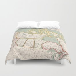 Vintage Map of Canada (1915) Duvet Cover