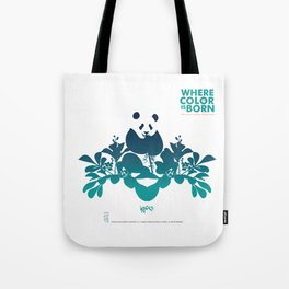 "Köpke's ""Where Color is Born - The Great Panda Adventure"" Tote Bag"