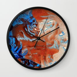 Where the colors collide Wall Clock