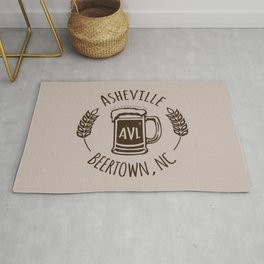 Asheville Beer - AVL 3 Brown Rug