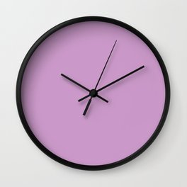 Pastel Violet - solid color Wall Clock