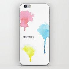 Simplify. iPhone & iPod Skin