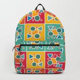 Tiled geometric pattern Backpack