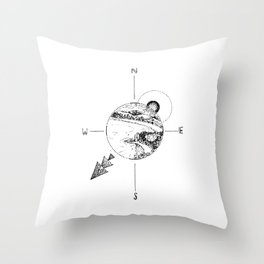 New Zealand's beauty *Whitianga Throw Pillow