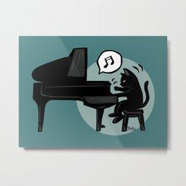 Pianist Metal Print