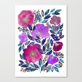 hand painted flowers_2 Canvas Print