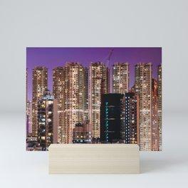Hong Kong Purple High Rise Mini Art Print